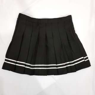 Black Striped Tennis Skirt #hot80