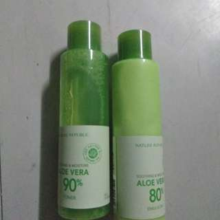 Aloe vera toner and emulsion