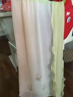 Pink and light green scarf 150cm