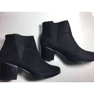 Suede Ankle Boots - NEW