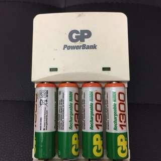 GP Battery Power Bank & 33x AA Batteries 電池叉電器連電芯