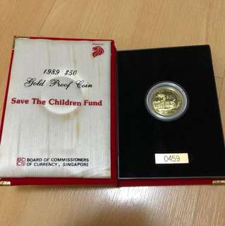 Singapore 1989 $50 Gold Proof Coin