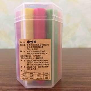 無印良品 MUJI 六角水性筆組 /迷你10色