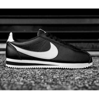 Nike Classic Cortez Leather Black White