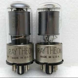 Raytheon 6SJ7-GT (NOS. Metal Base Vacuum Tubes)