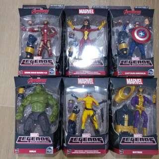 Marvel Legends BAF Thanos set of 6 (Iron Man Hulk Captain America)