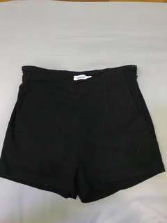 TEMT Black High Waist Shorts