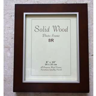8R Photo Frame Dark Brown