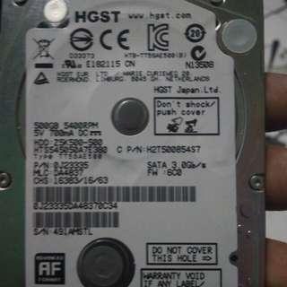 Hardis laptop 500gb
