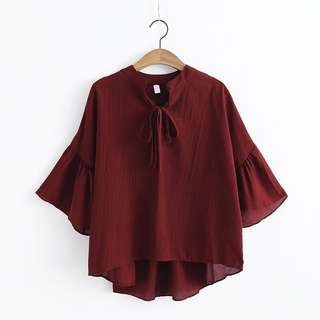 Deep Red Blouse