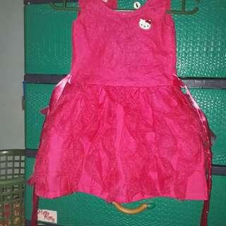 Hello kitty party dress 2t