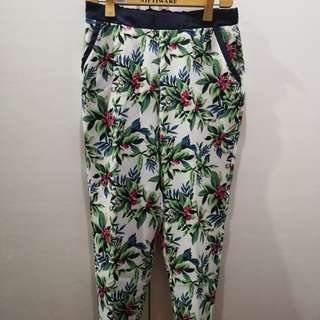 (For Me) Floral Print Sweat Pants