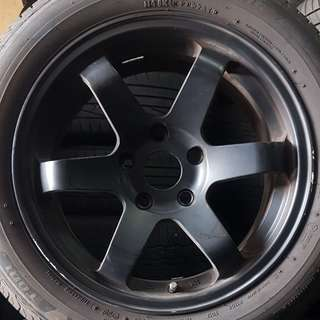 "16"" sport rims with tyres"