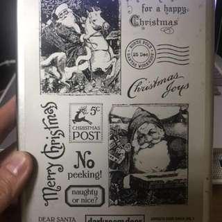 Darkroom Door 橡皮木頭印章 聖誕系列