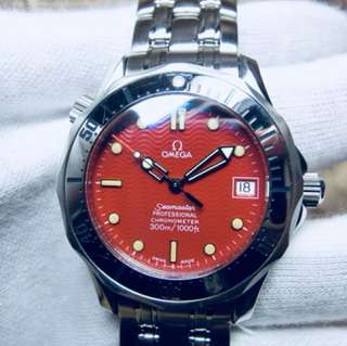 OMEGA SEAMASTER 300 PROFESSIONAL DIVERS WATCH  (Red Dial - Japan Marui Limited Edition) (Fullset - including original box & warranty card, with related documents)