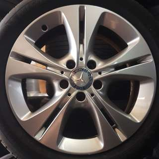 "Original 17"" Mercedes sport rims"