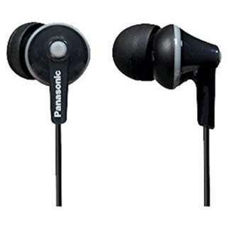 BNIP Panasonic ErgoFit In-Ear Earbuds Headphones with Mic/Controller RP-TCM125-K (Black)