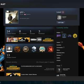steam account with $7.52 balance for sale