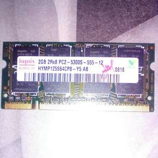 Laptop RAM Hynix 2Gb DDR2 SO-DIMM