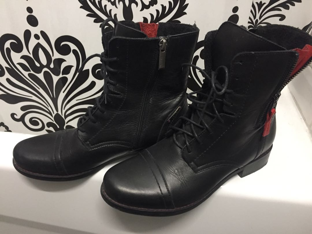 2 Pairs of Boots Sz 8 & 9 Genuine Leather Made in Europe