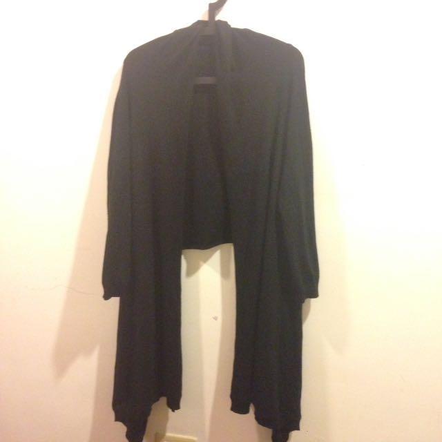 黑色針織外套(圍巾)