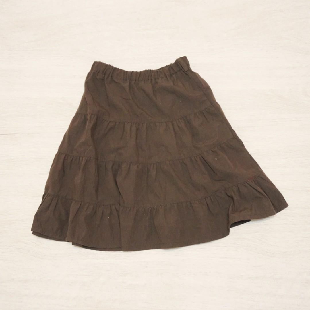 二手童裝/ 咖啡色蛋糕裙
