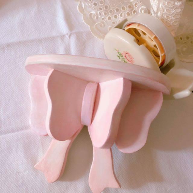 🎀手工粉色 蝴蝶結 壁掛架