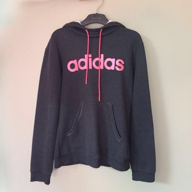 Adidas dark grey hoodie