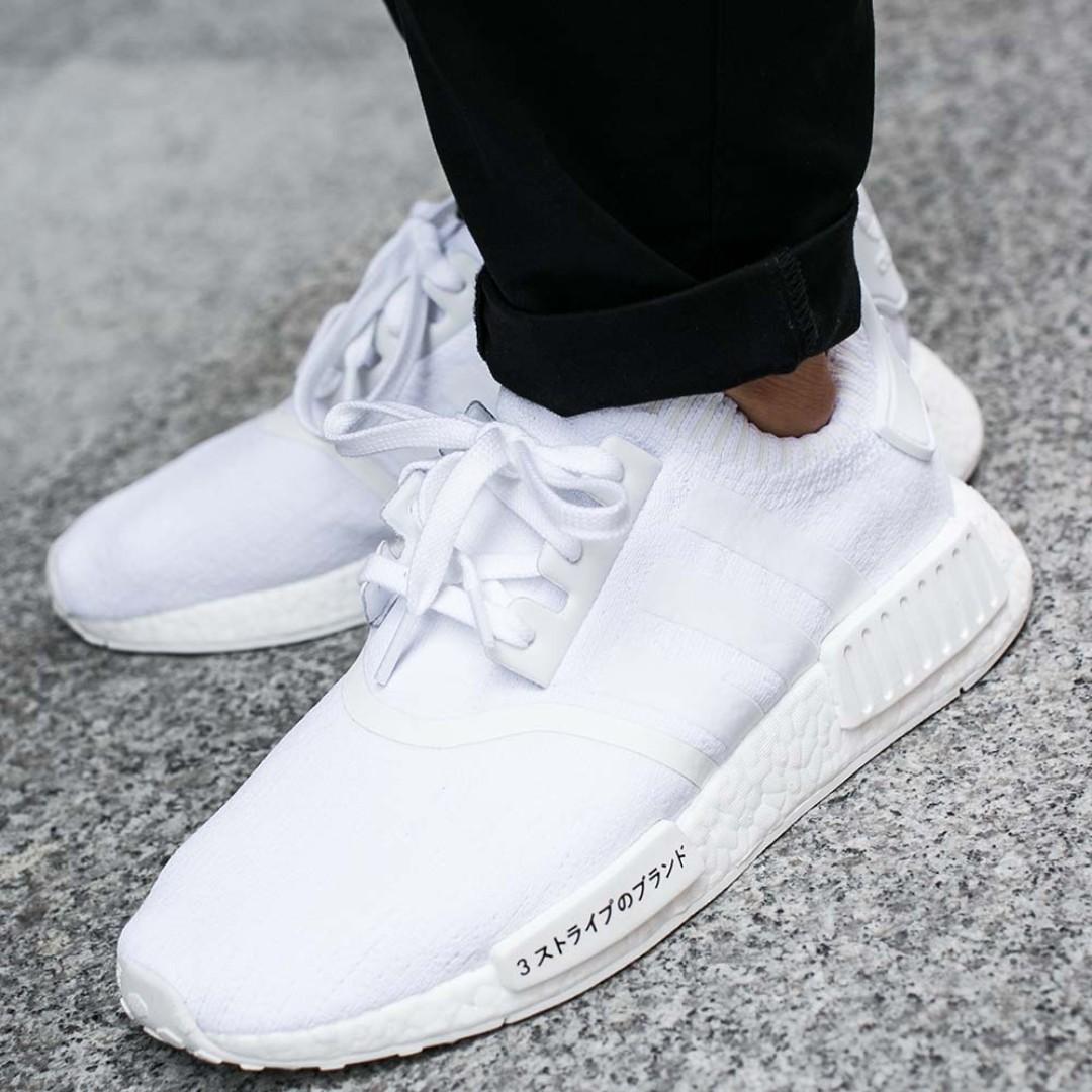 Adidas Nmd R1 Primeknit White Japan Boost Uk11 Bz0221 Men S