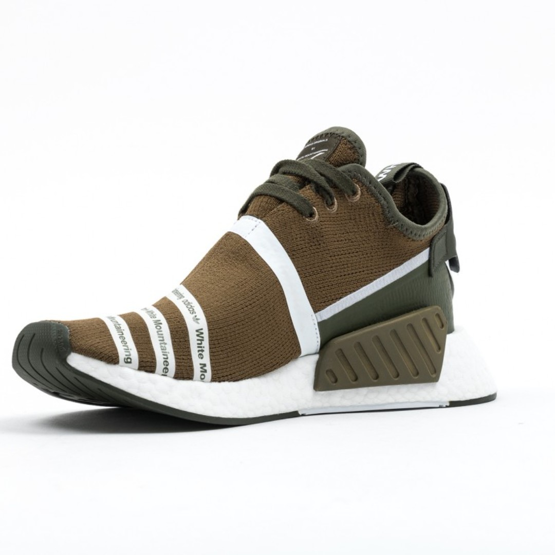 431f733ac6040 Adidas NMD R2 White Mountaineering Trace Olive - UK11 (CG3649 ...