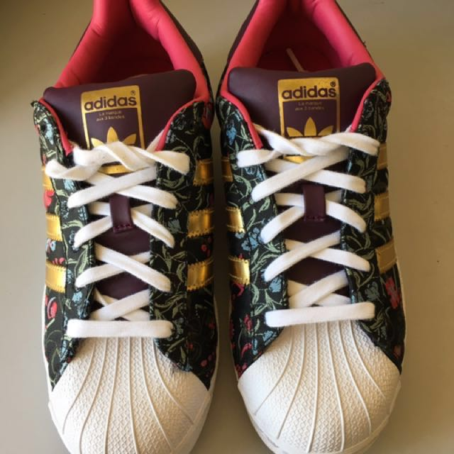 Adidas Superstar Limited Edition Floral (Hayley William), Women's Fashion, Shoes on Carousell