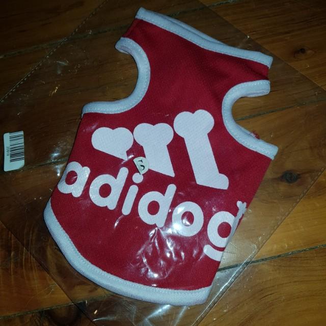 Adidog Red Shirt S Small
