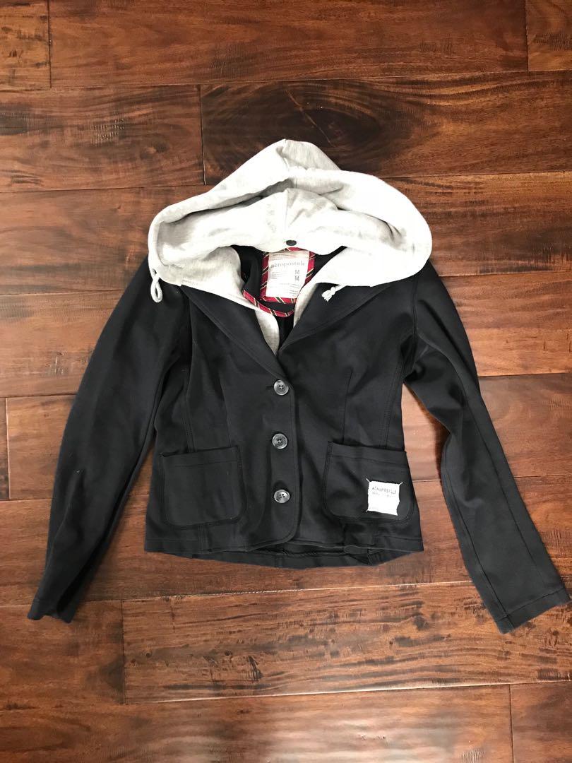Aeropostale blazer with hoodie lined