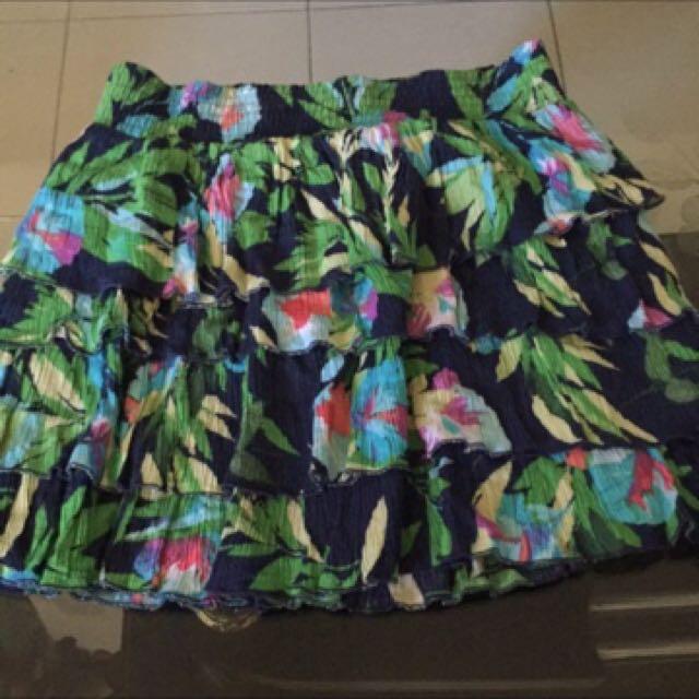 Aeropostale floral layered skirt