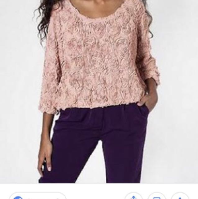 American appeal 3D lace floral sweater