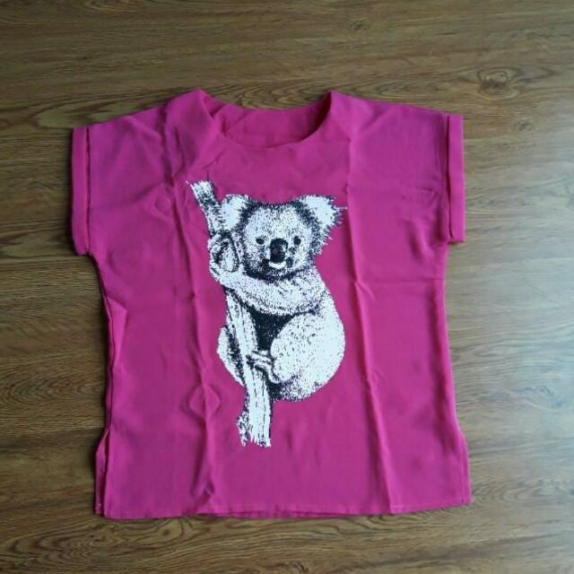 Atasan koala fushia