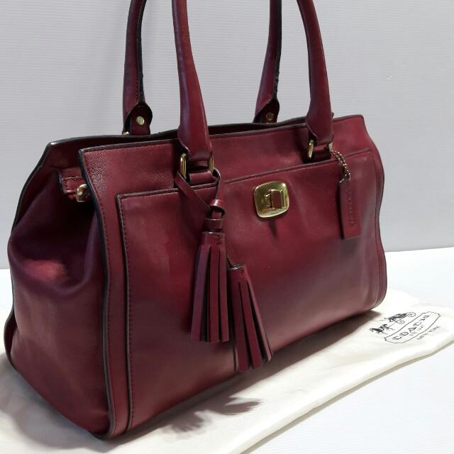 Authentic Coach Leather Bag 10d8d118df24c