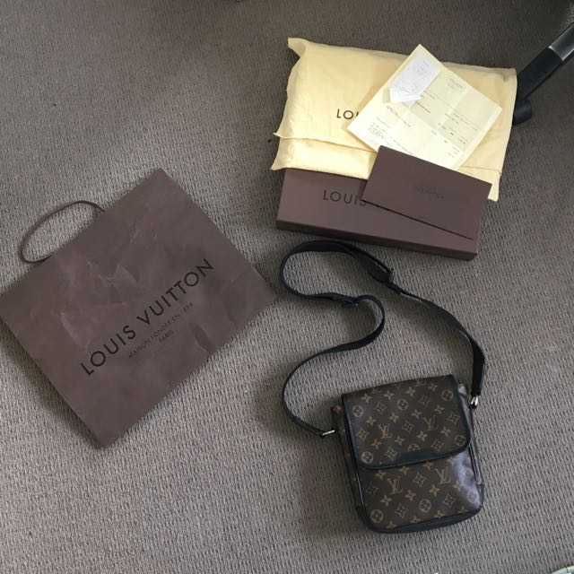 authentic louis vuitton bass pm with receipt and box