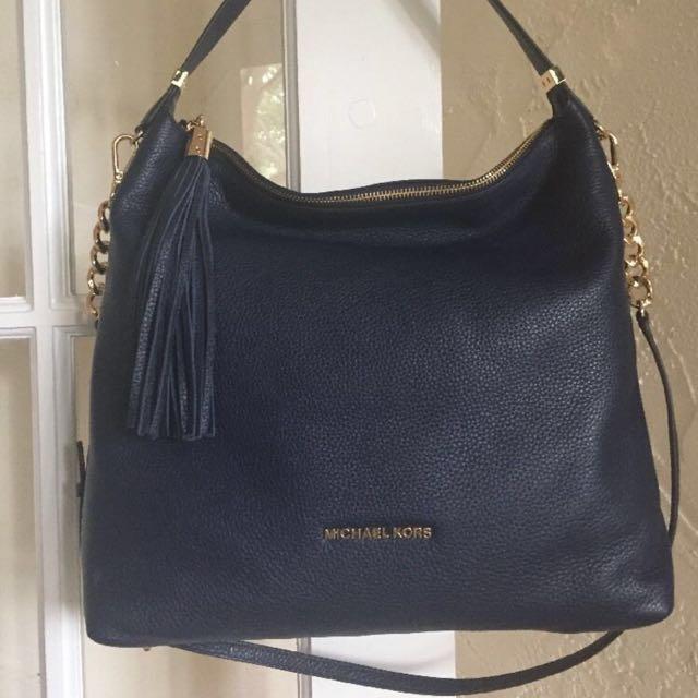 Authentic Michael kors soft black leather bag