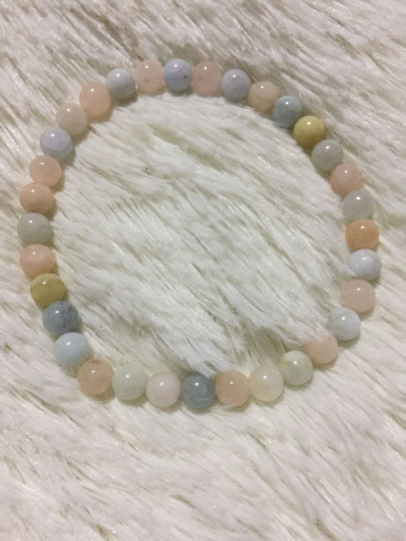 Authentic Morganite/Beryl bracelet
