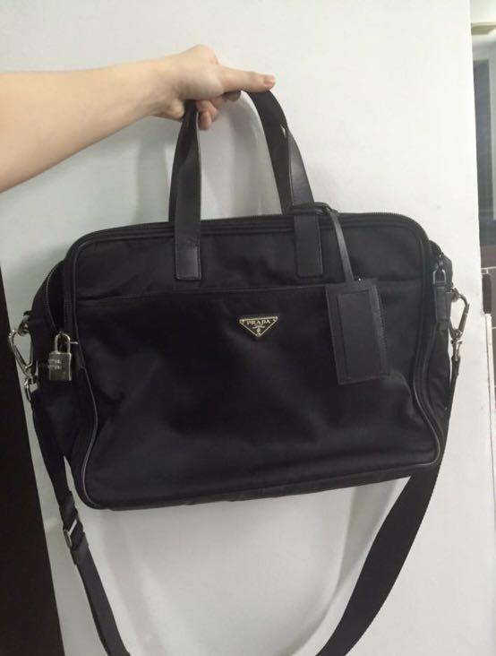 Authentic Prada laptop bag