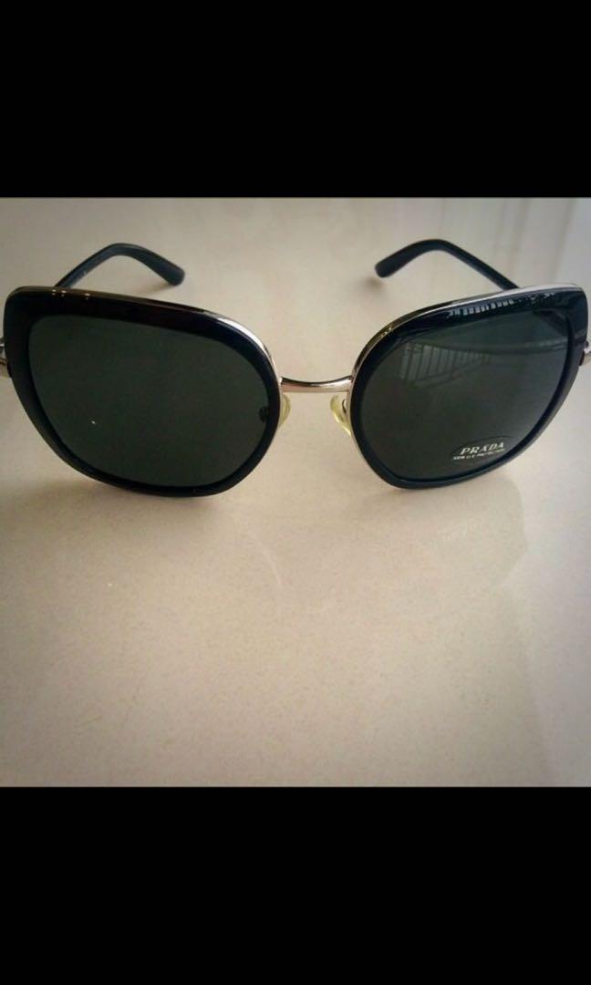 3bea2d23de15 ... reduced authentic prada oversized sunglasses womens fashion accessories  efc8e 0750d