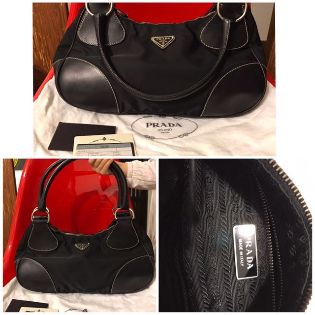1d0dfdc259 Authentic Vintage Prada Tessuto Moon Handbag