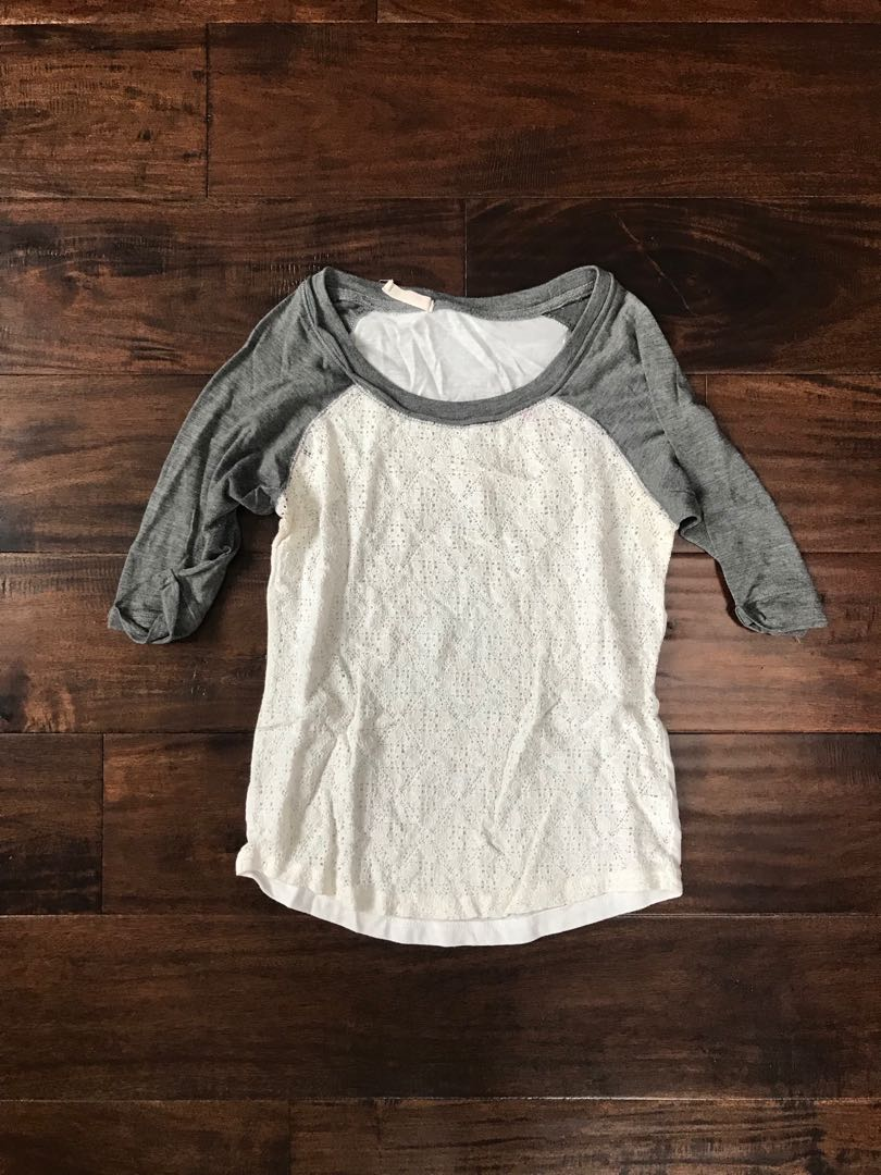 Baseball tee with lace