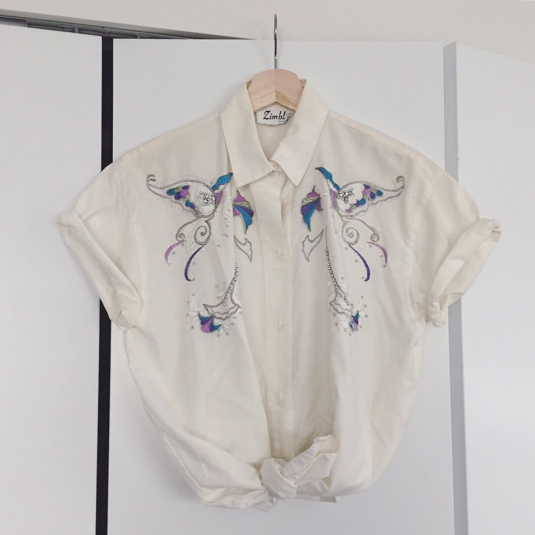 Beaded and embroidery blouse