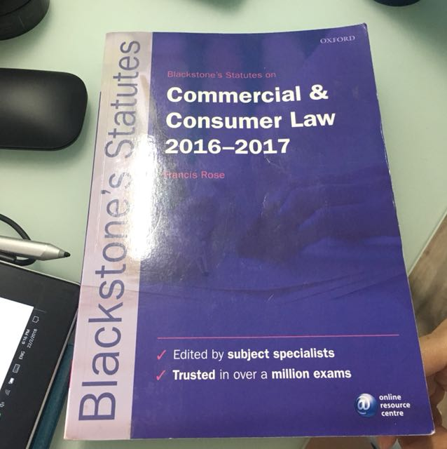 Blackstone's Statutes on commercial law