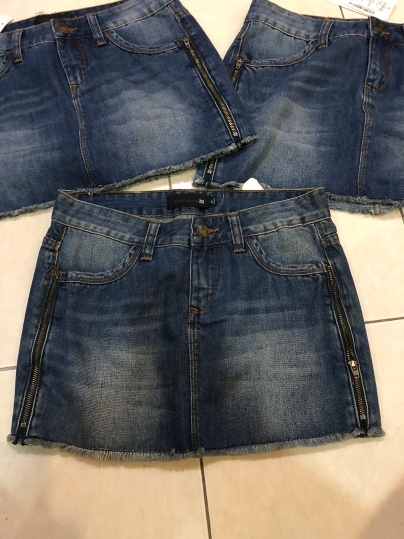 Brand new jeans shirt skirt