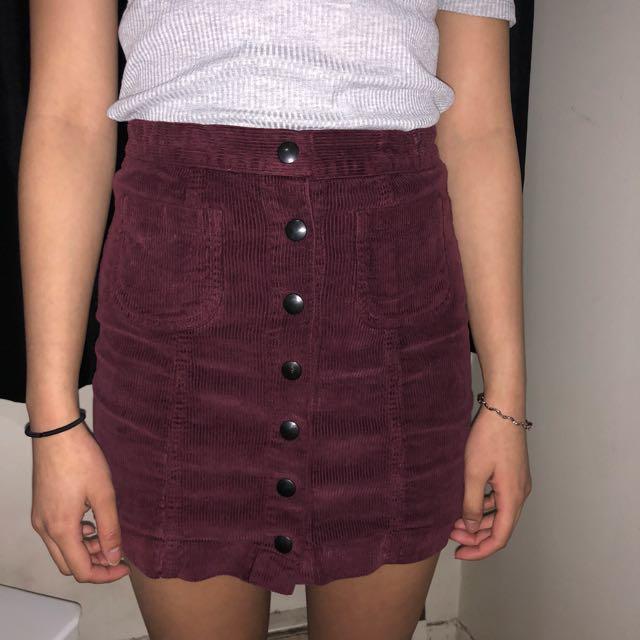 Brandy Melville Corduroy Skirt
