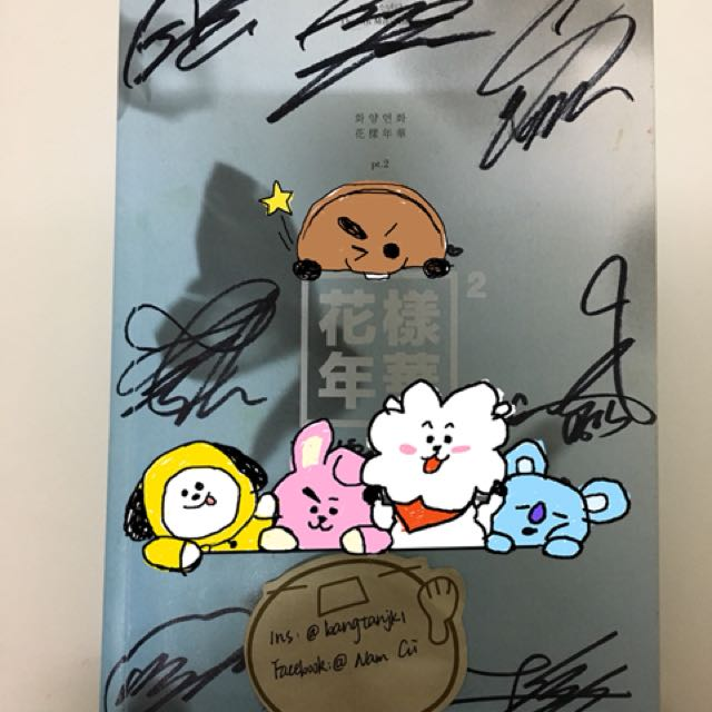 BTS hyyh pt 2 signed album, Entertainment, K-Wave on Carousell