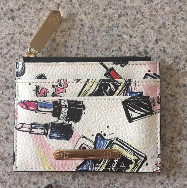 Card holder - white with fun print